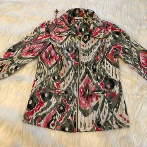Weekends by Chico's size 0 zip up jacket cotton